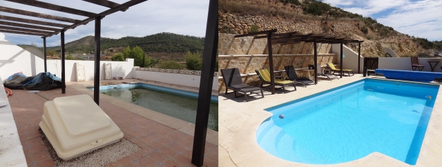 pool now and then